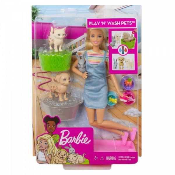 Lalka Barbie Kąpiel zwierzątek (FXH11/FXH10)
