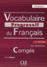 Vocabulaire progressif du français Avancé Klucz 2. edycja Miquel Clire
