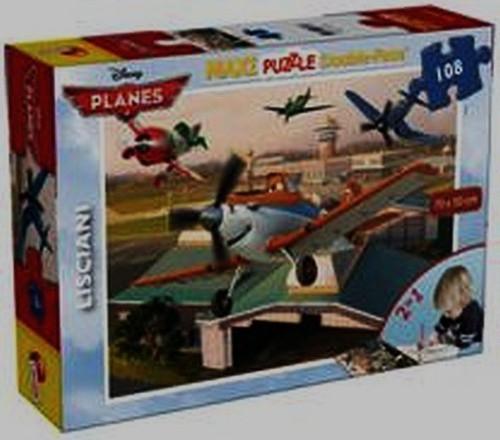 Puzzle Planes dwustronne, maxi 2w1 108 elementów