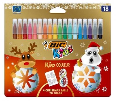 Flamastry Kid Couleur - 18 kolorów Christmas