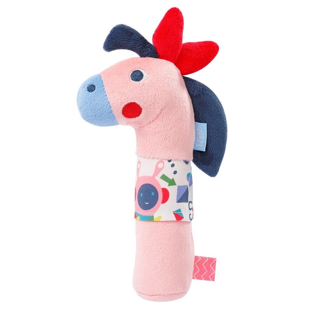 Zabawka do rączki z piszczałką - Konik