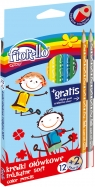 Kredki ołówkowe trójkątne Super Soft 12 kolorów