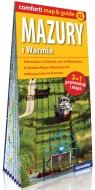 Mazury i Warmia laminowany 2w1 przewodnik i mapa