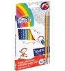 Kredki trójkątne Fiorello Super Soft, 12 kolorów + 2 gratis