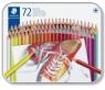 Kredki klasyczne 72 kolory w metalowym pudełku (S175 M72)