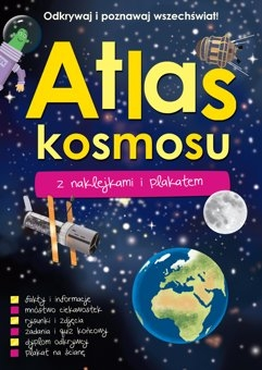 Atlas kosmosu z naklejkami i plakatem
