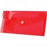 Teczka/koperta plastikowa na guzik Tetis DL - czerwona (BT612-C)