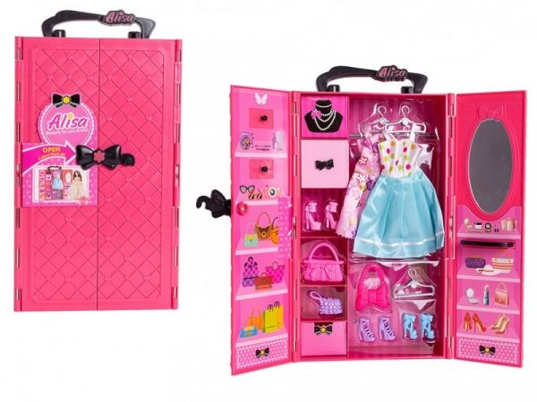 Garderoba z wyposażeniem Różowa (113067)
