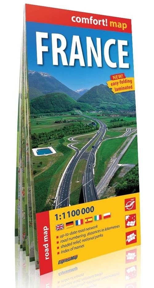 France mapa samochodowa 1:1100 000