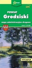 Powiat Grodziski - mapa turystyczna praca zbiorowa