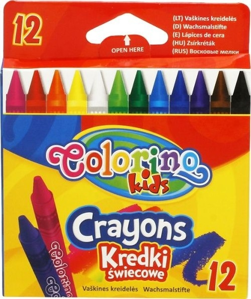 Kredki świecowe Colorino Kids, 12 kolorów (13314PTR)