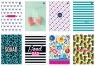 Brulion w linię A5, 96 kartek, kolekcja - Girls 412Bmix