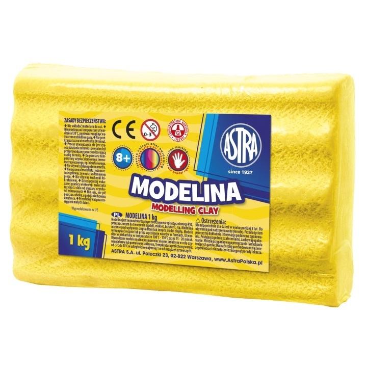 Modelina Astra, 1 kg - żółta (304111011)