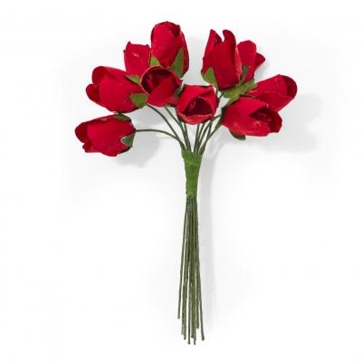Ozdoba papierowa Galeria Papieru kwiaty tulipany czerwone (252002)