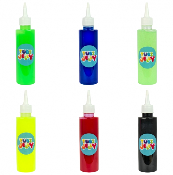 Zestaw Tubi Jelly 6 kolorów + małe akwarium - Cyferki (TU3331)