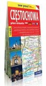 Częstochowa see you! in papierowy plan miasta 1:22 000