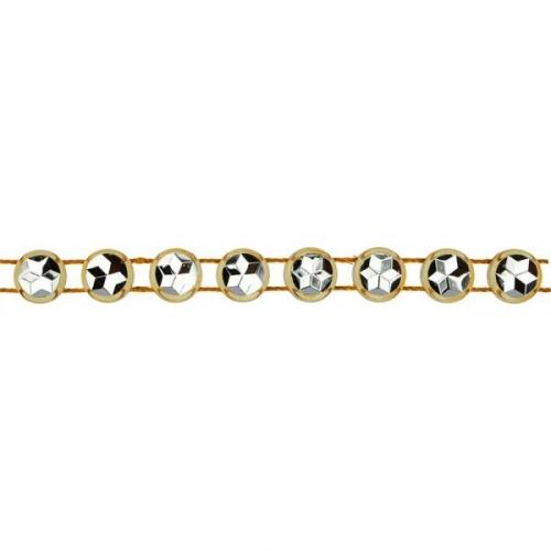 Taśma kryształowa 0,6cm x 15m - złota (363492)