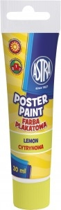 Farba plakatowa cytrynowa, 30 ml