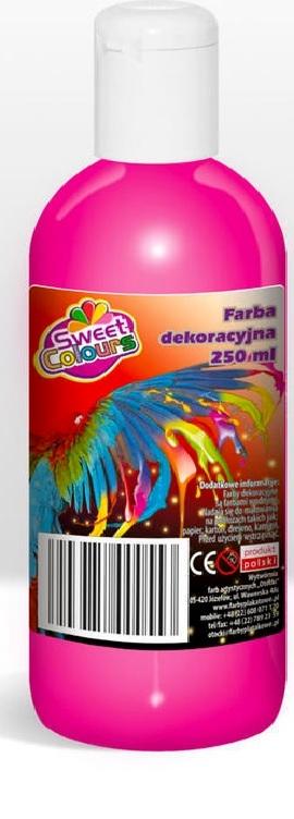 Farby plakatowe 500ml fluorescencyjne różowe Otocki .