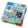 Puzzle 4w1 mix Przygody Peppy (34131)