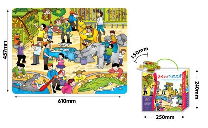 Mata z puzzli: Zoo 24 elementy