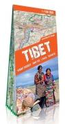 Tybet Mount Everest Nam tso Lhasa Shigatse mapa południowej części Tybetu 1:400 000