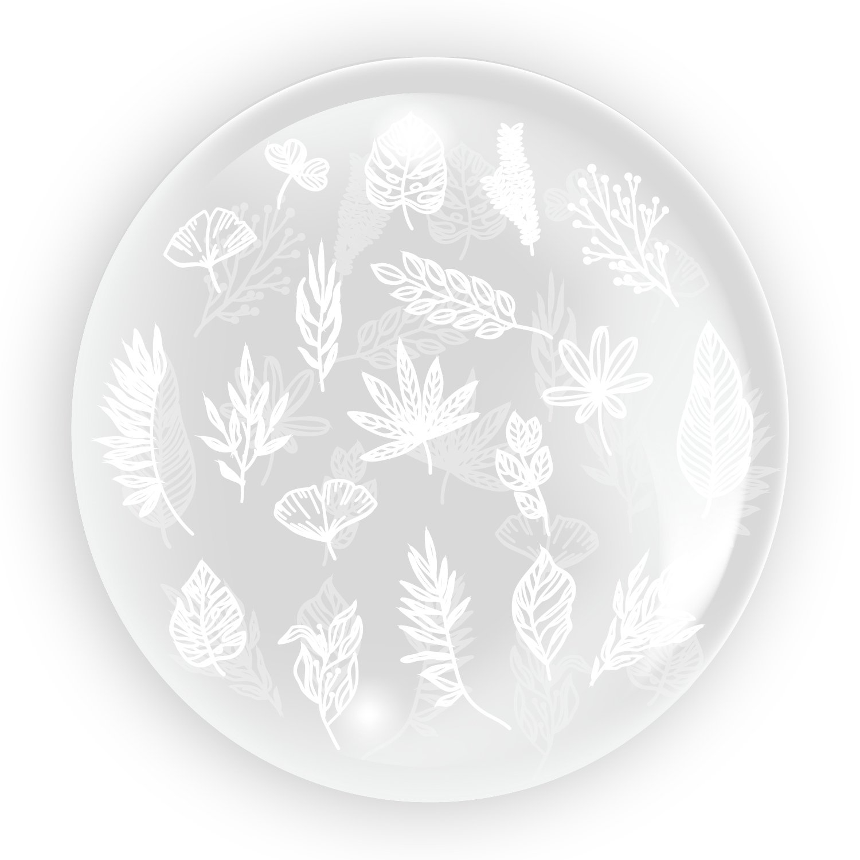 Tuban, balon 45 cm - Liście 1 (TB 3631)