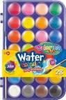Farba akwarelowa duża pastylka 28 kolorów Colorino Kids