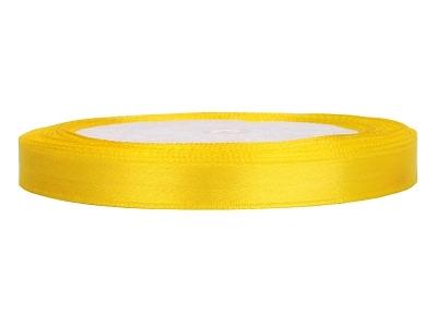 Tasiemka satynowa żółta ATS6-084 0,6cm x 25m .