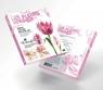 Papierowe kompozycje Kwiaty - Prymula 8