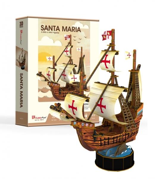 Puzzle 3D: Żaglowiec Santa Maria (306-24031)