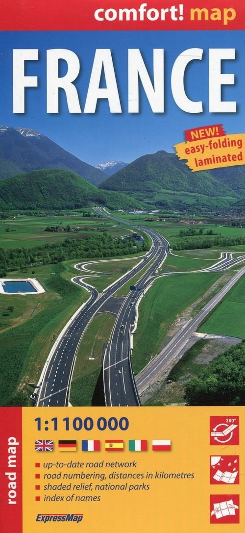 France road map 1:1100 000 laminowana mapa drogowa