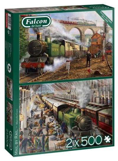 Puzzle 2x500 Falcon Kolejowy przewóz poczty G3