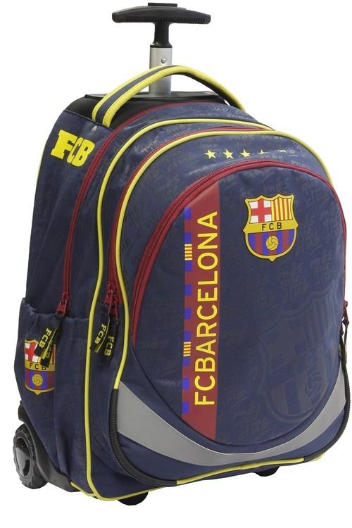 Tornister na kółkach z rączką Trolley FC Barcelona