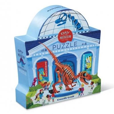 Puzzle 48 elementów Dzień w muzeum Dinozaury