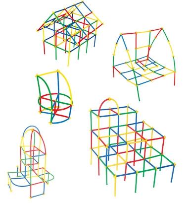 Klocki małych geniuszy - Słomki, 200 elementów (110097)
