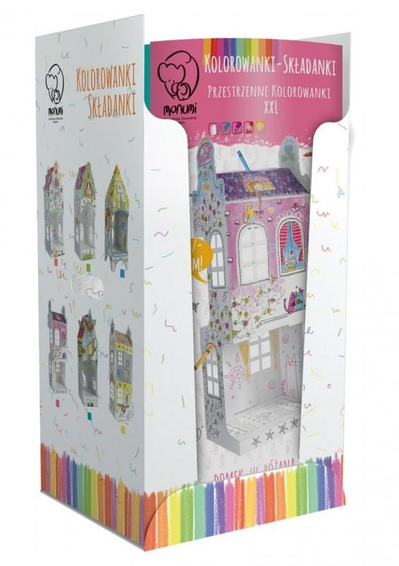 Kolorowanki przestrzenne Domek display podłogowy, 24 sztuki (MPD-0004D1)