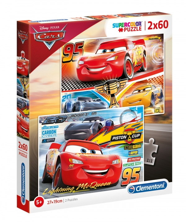 Puzzle SuperColor 2x60: Cars 3 (07131)