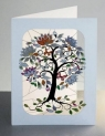 Karnet PM203 wycinany + koperta Motyle na drzewie