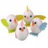 Zestaw dekoracji kreatywnych Kurczaki jajkax4, materiałowe elementy do zdobienia (WN2319)