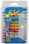 Kredki świecowe Flamingo Twist-it 12 kolorów