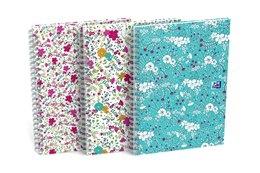 Kołobrulion Oxford Floral A5 60 kartek kratka