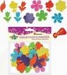 Dodatek dekoracyjny Craft-fun pianki samoprzylepne kwiaty brokat  (EB101)