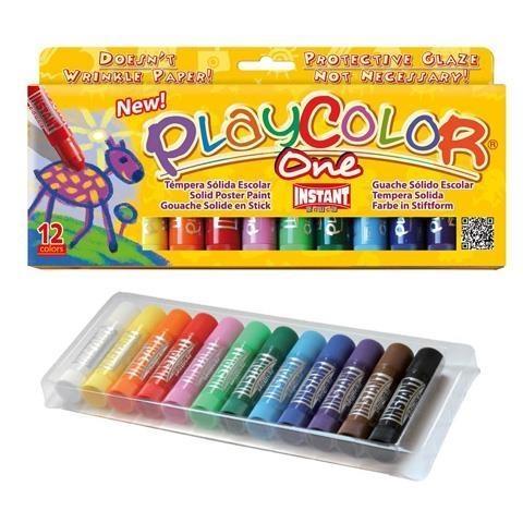 Farby w sztyfcie Playcolor One, 12 kolorów x 10g