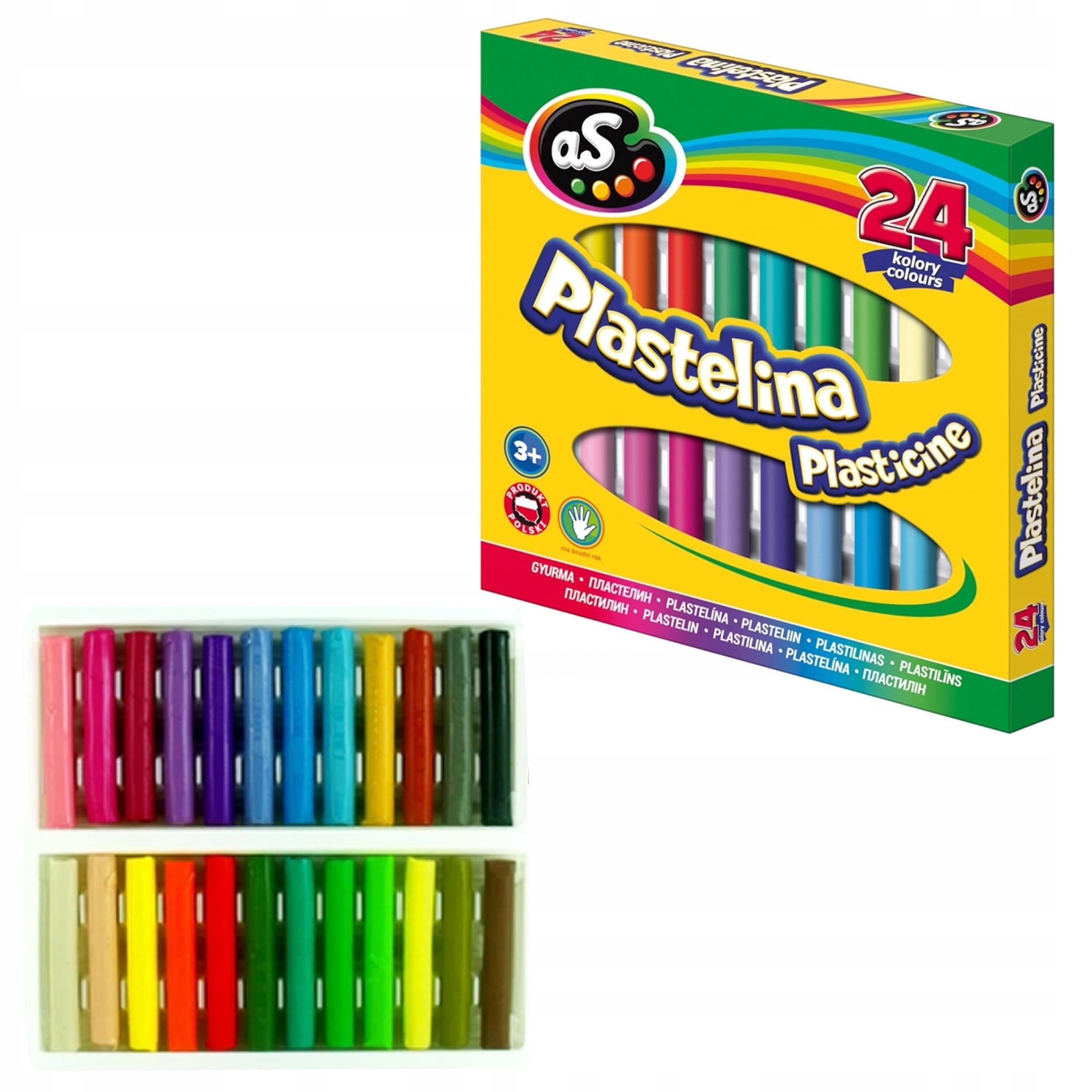 Plastelina Astra AS, 24 kolory (303219004)