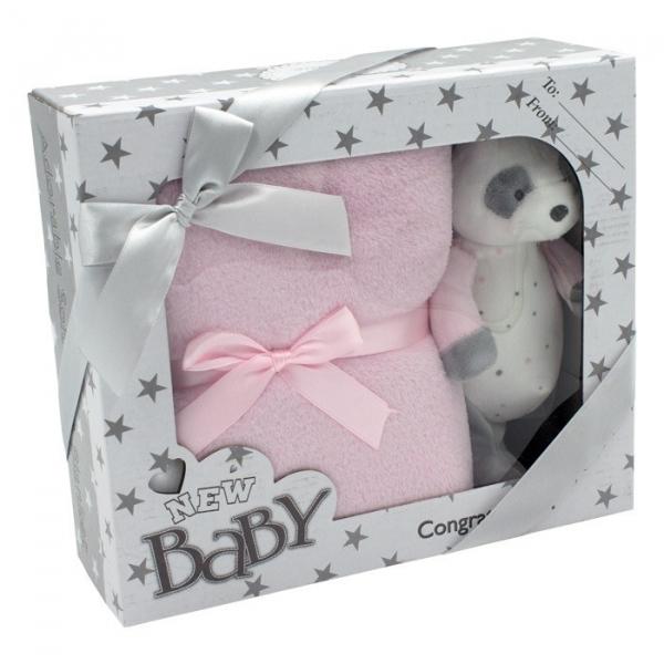 Zestaw New baby różowy 15cm 100x75cm (5147a)