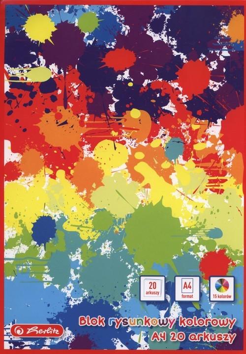 Blok rysunkowy A4 z papierem kolorowym 10 sztuk