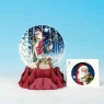 Kartki 3D Father Christmas Snow Globe