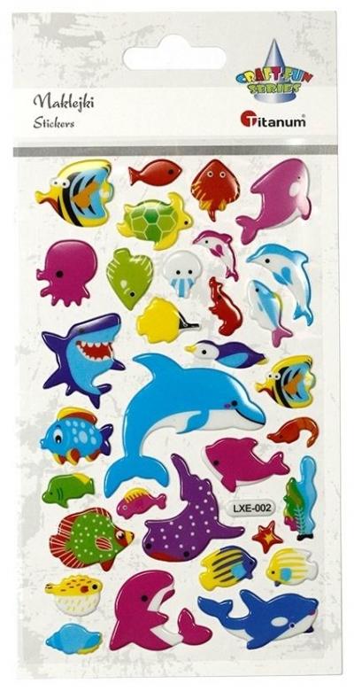 Naklejki wypukłe zwierzęta morskie 32szt