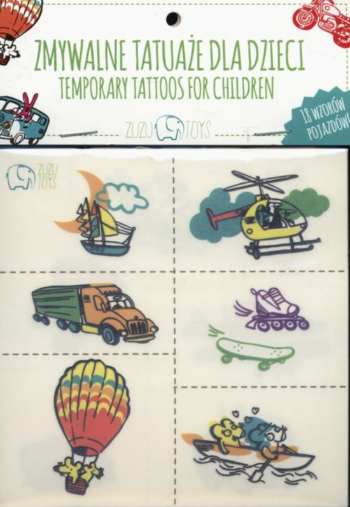 Zmywalne tatuaże dla dzieci - Pojazdy